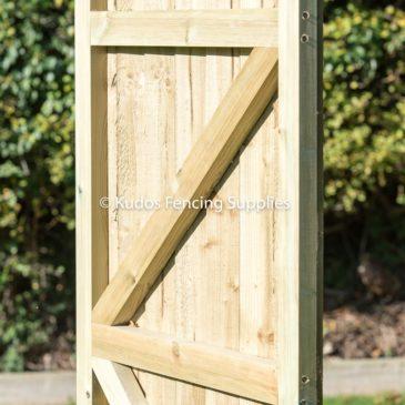 Closed board gate. Feather edge garden gate.