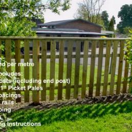 Garden Fencing Metre Kits Kudos Fencing Supplies