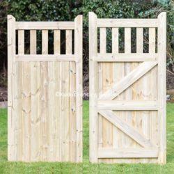Wooden open top side gate.