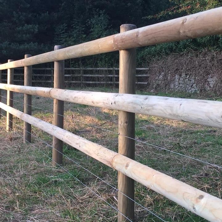 Half Round Rails 3 6m Fence Supplies Buy Online Uk