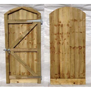 Arch Top Closeboard Gate And Furniture Set