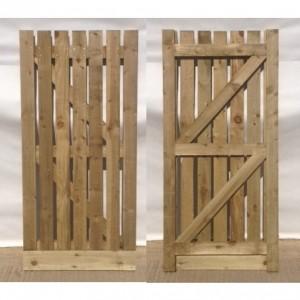 Wooden Palisade Garden Gate Kudos Fencing Supplies