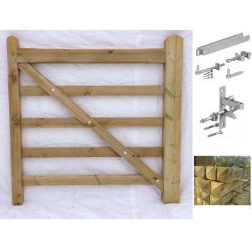 pedestrian wooden field gates