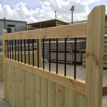 Railing Top Driveway Gates