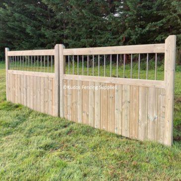 Timber Framed Railing Top Driveway Gates