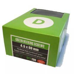 4.5 x 60 Green Decking Screws Box