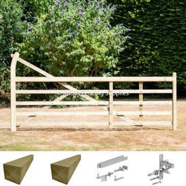 Turned heel 5 bar gate kit