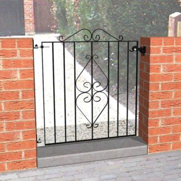 single garden metal gates