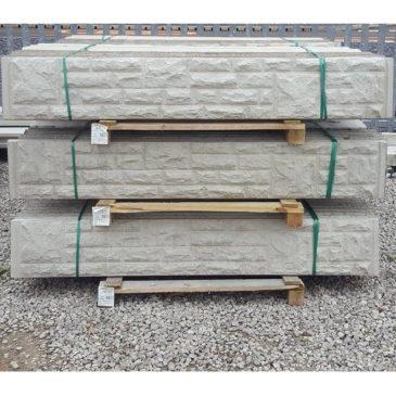 Concrete rock faced gravel boards