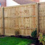 Closed board fencing and garden fencing