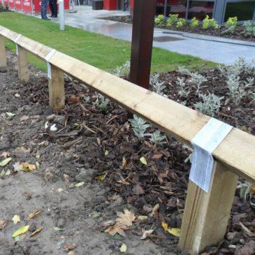 100mm Post straps for knee rail