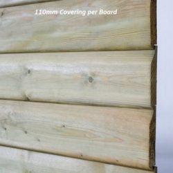 Treated shiplap timber cladding