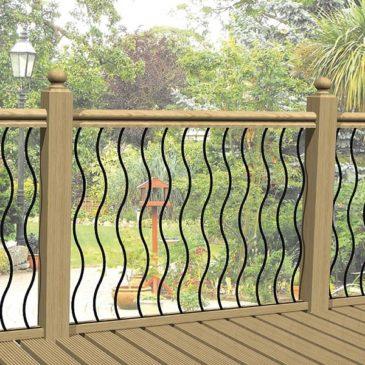 Wave metal decking panels