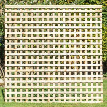 Privacy trellis panels. Square trellis