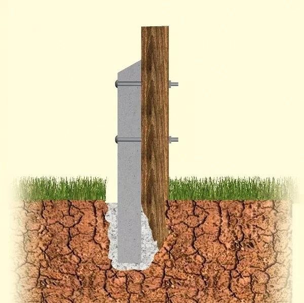 How to repair a broken post using a concrete repair spur.
