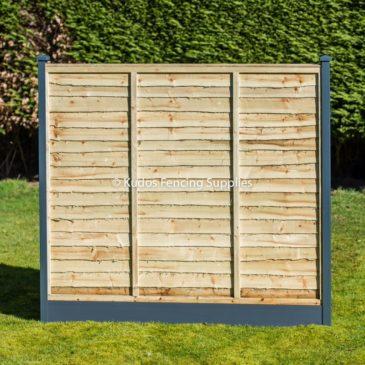 Lap panels with metal durapost